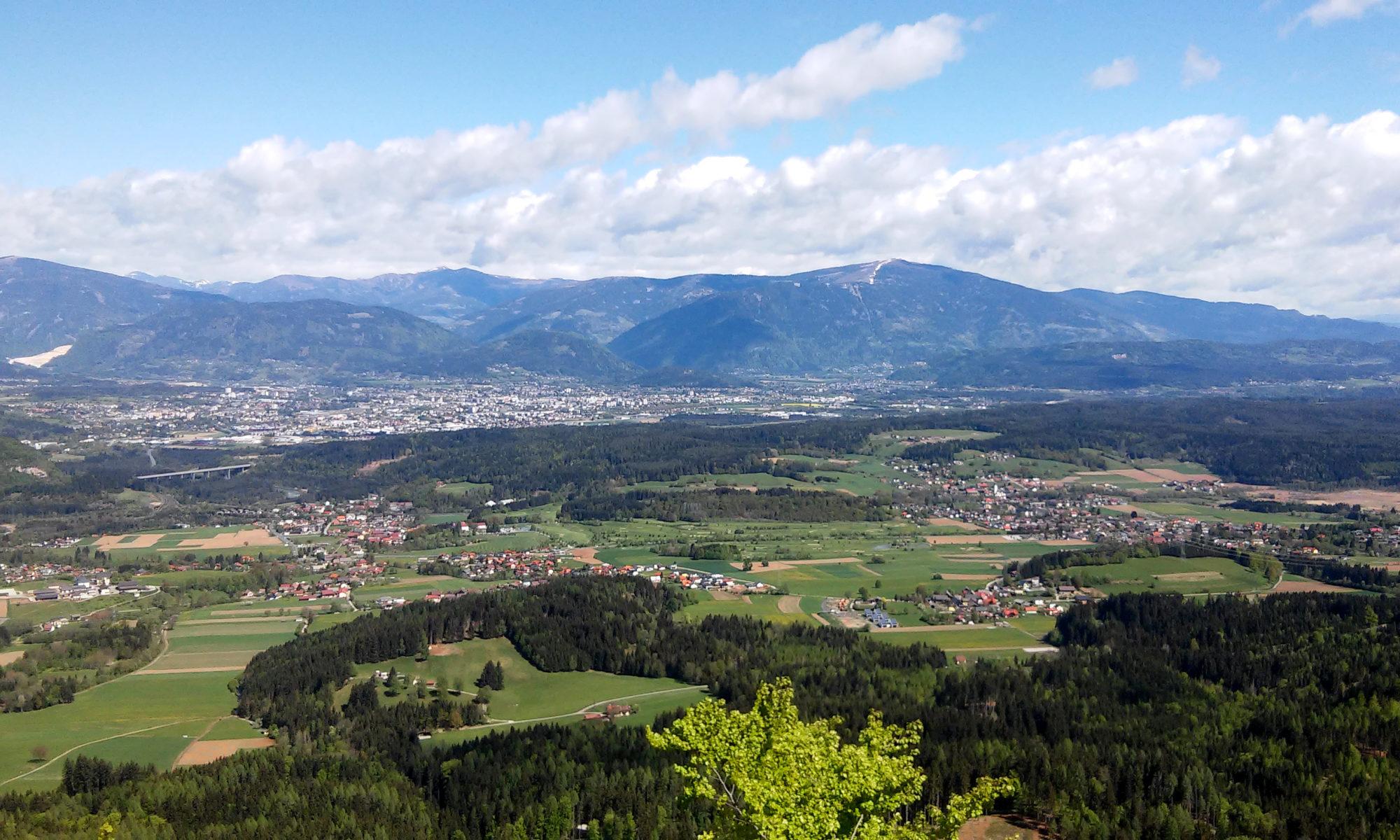 Bodenverbrauch in Kärnten, Blick auf Villach